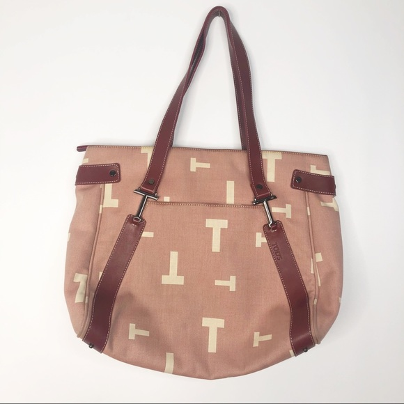 2b7f793be31 Tod's Canvas Double 'T' Red Shoulder Bag Tote. Tod's.  M_5cd10bf28557afc13d5ceddf. M_5cd10bf3d1aa253431de65d8.  M_5cd10bf508d2c2f28f53f5f0
